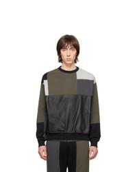 Sweat-shirt à patchwork olive GR-Uniforma