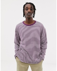 Sweat-shirt à rayures horizontales bordeaux Weekday