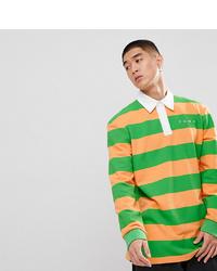 Sweat-shirt à rayures horizontales vert Puma