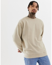 Sweat-shirt beige ASOS DESIGN
