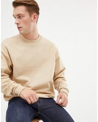 Sweat-shirt beige ASOS DESIGN