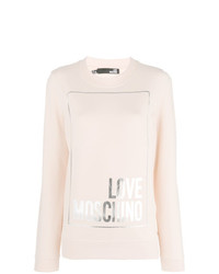 Sweat-shirt beige Love Moschino