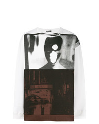 Sweat-shirt blanc et noir