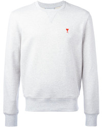 Sweat-shirt blanc AMI Alexandre Mattiussi