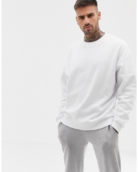 Sweat-shirt blanc ASOS DESIGN