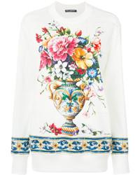 Sweat-shirt blanc Dolce & Gabbana