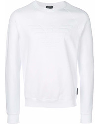 Sweat-shirt blanc Emporio Armani