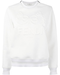 Sweat-shirt blanc Fendi
