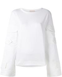 Sweat-shirt blanc Marni