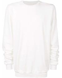 Sweat-shirt blanc Rick Owens
