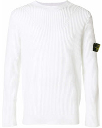 Sweat-shirt blanc Stone Island
