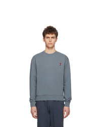 Sweat-shirt bleu clair AMI Alexandre Mattiussi