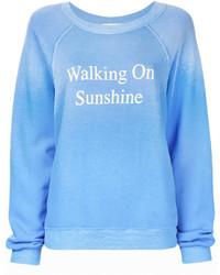 Sweat-shirt bleu clair Wildfox Couture
