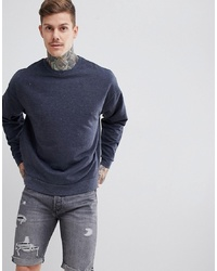 Sweat-shirt bleu marine ASOS DESIGN