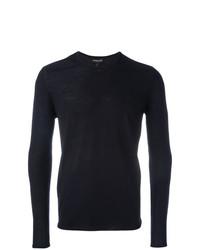Sweat-shirt bleu marine Emporio Armani