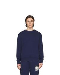 Sweat-shirt bleu marine Maison Margiela