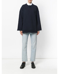 Sweat-shirt bleu marine Maison Margiela