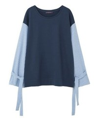 Sweat-shirt bleu marine Mango