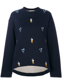 Sweat-shirt bleu marine Marni