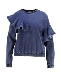 Sweat-shirt bleu marine Second Script Curve
