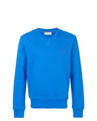 Sweat-shirt bleu AMI Alexandre Mattiussi