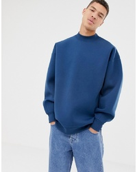 Sweat-shirt bleu ASOS WHITE