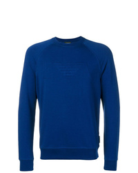 Sweat-shirt bleu Emporio Armani