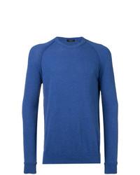 Sweat-shirt bleu Roberto Collina