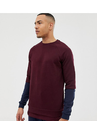 Sweat-shirt bordeaux ASOS DESIGN