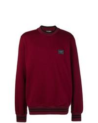 Sweat-shirt bordeaux Dolce & Gabbana