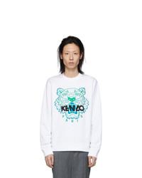 Sweat-shirt brodé blanc Kenzo