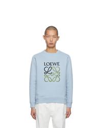 Sweat-shirt brodé bleu clair Loewe