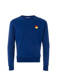 Sweat-shirt brodé bleu AMI Alexandre Mattiussi