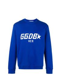 Sweat-shirt brodé bleu Golden Goose Deluxe Brand
