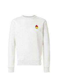 Sweat-shirt brodé gris AMI Alexandre Mattiussi