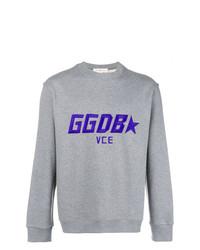 Sweat-shirt brodé gris Golden Goose Deluxe Brand