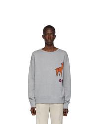 Sweat-shirt brodé gris Gucci