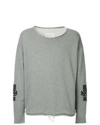 Sweat-shirt brodé gris Maison Margiela