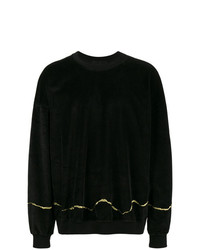 Sweat-shirt brodé noir Haider Ackermann