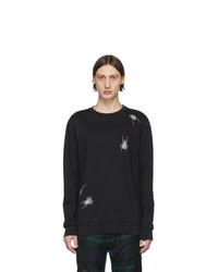 Sweat-shirt brodé noir Paul Smith