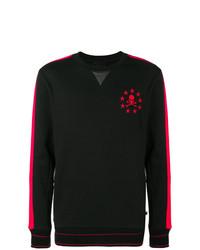 Sweat-shirt brodé noir Philipp Plein