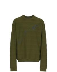 Sweat-shirt brodé olive Haider Ackermann