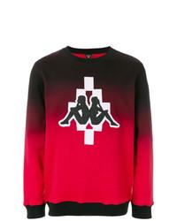 Sweat-shirt brodé rouge Marcelo Burlon County of Milan