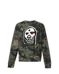 Sweat-shirt camouflage vert foncé Haculla
