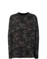 Sweat-shirt camouflage vert foncé Unravel Project