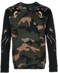 Sweat-shirt camouflage vert foncé Valentino
