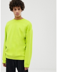 Sweat-shirt chartreuse ASOS DESIGN