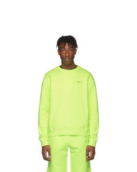 Sweat-shirt chartreuse Off-White