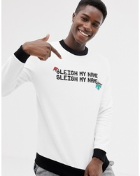 Sweat-shirt de noël blanc ASOS DESIGN