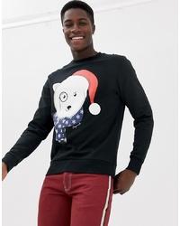 Sweat-shirt de noël noir Jack & Jones